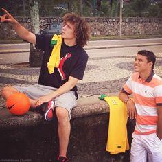 David Luiz and Thiago Silva....... great Brazilian defenders