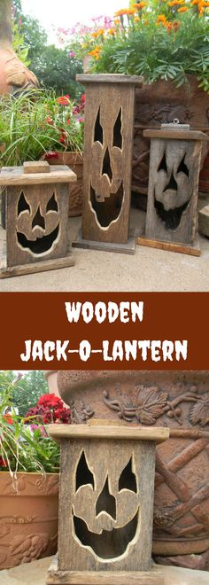 Fall Rustic Décor. Wooden Jack- O- Lantern. Outdoor Halloween Decorations. Pumpkin. Fall. Autumn, Home Décor. Holiday Decorations. #affiliatelink