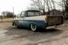 1961 Ford F100 Truck Shortbed Unibody Ratrod Hot Rod Custom, image 8