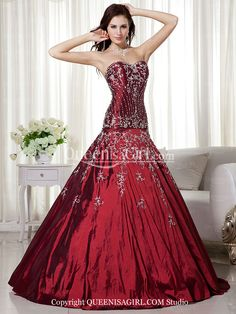 Mermaid / Trumpet Ball Gown Princess Strapless Sweetheart Long / Floor-Length Satin Quinceanera Dress front back detail and photogallery