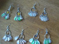 """2.5"""" chandelier earrings - choice of colors by StrungOnLove on Etsy"""