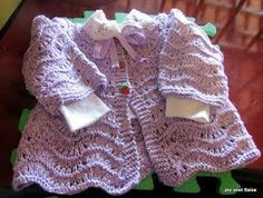 Eu que Fiz - Vovó Baisa: Casaquinho de bebê em tricô Wee Liesl