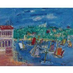Jean Dufy - CASCAIS, Oil on canvas