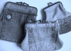.Denim coin purses, only a picture