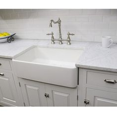 Fine Fixtures Fireclay Butler Large 29.5-inch Kitchen Sink | Overstock.com Shopping - The Best Deals on Kitchen Sinks