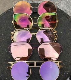 Latest fashion sunglasses - Women's style: Patterns of sustainability Cute Sunglasses, Summer Sunglasses, Cat Eye Sunglasses, Round Sunglasses, Mirrored Sunglasses, Sunglasses Women, Latest Sunglasses, Fake Glasses, Cool Glasses