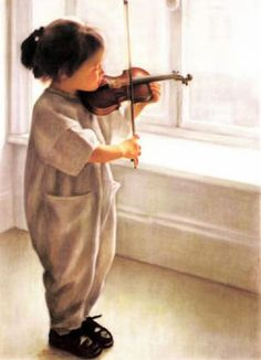 Petit Violon by Richard Danielle Violin Art, Violin Painting, Music Express, Foto Art, Jolie Photo, Sound Of Music, Art Music, Kids Music, Beautiful Children