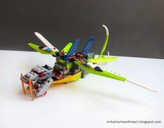 Kid Valiant and His Art: Legos, Dragons and Bears. Okay just Lego Dragons.