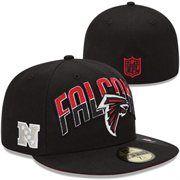 New Era Atlanta Falcons 2013 NFL Draft 59FIFTY Fitted Hat - Black