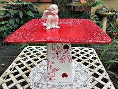 Cherub Dessert Pedestal / Bird Feeder / by GardenWhimsiesByMary