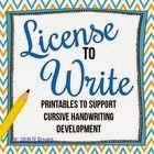 Classroom Freebies Too: License to Write: A Cursive Freebie