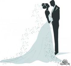 Bride And Groom Silhouette, Wedding Silhouette, Silhouette Clip Art, Wedding Coloring Pages, Wedding Art, Wedding Cookies, Happy Art, Flower Frame, Wedding Bouquets