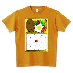 ハンバーグ弁当 5.6オンスTシャツ (Printstar)