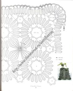 Discussion on LiveInternet - Russian Online Diary Service Crochet Diagram, Crochet Chart, Filet Crochet, Crochet Motif, Irish Crochet, Crochet Doilies, Hand Crochet, Crochet Stitches, Bruges Lace