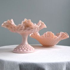 Pink Milk Glass By Fenton