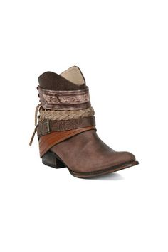 The Mezcal Bootie in Brown by Steve Madden at CoutureCandy.com