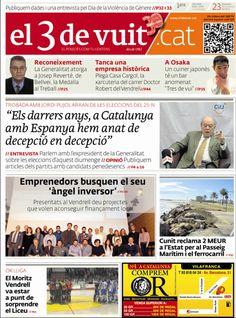 Portada d'El 3 de vuit del 23 de novembre del 2012 - Baix Penedès