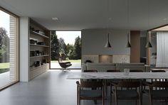 Architektur EFH #architektur #EFH #schweiz #Switzerland #aargau #Einfamilienhaus #Architekturbüro #Studiodati #Innenarchitektur #Backstein #Beton #Klinker  #Holz #modern #zeitlos Studio, Conference Room, Divider, Modern, Table, Furniture, Home Decor, Baking Stone, Detached House