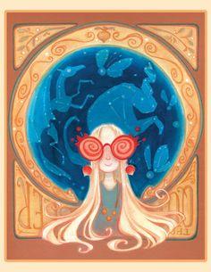 Lunaverse 8.5x11 Art Print by CaseyRobinArt on Etsy, $25.00