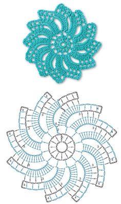 Not your grandmother's doily - Spectacular suede crochet doily - Free app . Not your grandmother's doily - Spectacular suede crochet doily - Free pattern, Motif Mandala Crochet, Crochet Flower Squares, Crochet Doily Diagram, Crochet Motif Patterns, Crochet Circles, Crochet Chart, Thread Crochet, Crochet Granny, Crochet Doilies