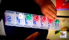 I love this creative idea for making place value shakers out of dollar store pill dispensers!