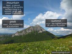 Mountain - www.funkyenglish.com