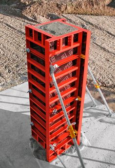 Introduction Formwork is a mould or open box, like container into which fresh concrete is poured and compacted. When the concrete is set, the formwork is Concrete Curbing, Concrete Formwork, Concrete Tools, Types Of Concrete, Concrete Column, Concrete Structure, Concrete Projects, Framing Construction, Construction Sector