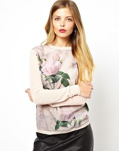 New Women's Top Green Leaves Printed Long Sleeve Sweater Fashion Women Knitwear Knit