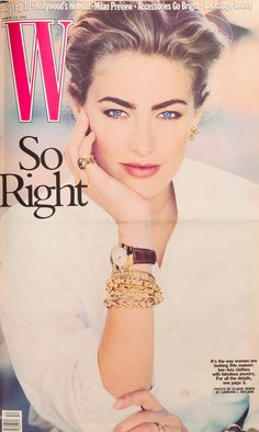 W Magazine's Supermodel Cover Girls - Elaine Irwin on the cover of W Magazine…