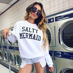 ⋘⋘Laundry Mat V i b e s ⋙ in the ⋘ S A L T Y MERMAID ⋙ Sweatshirt ➳ Prime for…