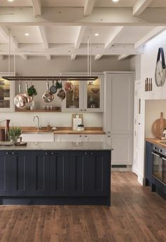 50 Unusual Wooden Kitchen Cabinets For Home Inspiration. Here are the Wooden Kitchen Cabinets For Home Inspiration. This article about Wooden Kitchen Cabinets For Home Inspiration was posted [&h. Interior Exterior, Kitchen Interior, New Kitchen, Kitchen Design, Kitchen Decor, Kitchen Island, Kitchen Grey, Warm Kitchen Colors, Blue Shaker Kitchen
