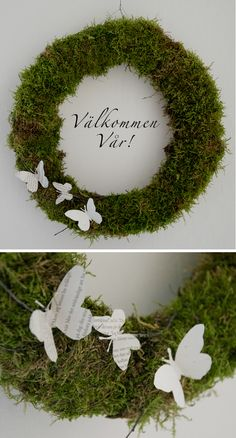 spring wreath - add a bunny and eggs for easter