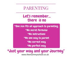 There is no perfect way to parent. Read what I think http://www.themummyschool.co.uk/professionals-shouldnt-throw-stones-and-parenting-styles/