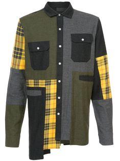 Mostly Heard Rarely Seen Oversized Plaid Flannel Shirt - Farfetch Mens Flannel, Flannel Shirt, Tartan Shirt, Plaid Shirts, Men's Shirts, Dress Shirts, Latest Mens Fashion, Men's Fashion, Fashion Rings