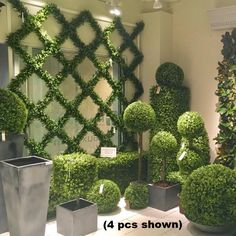 Artificial Boxwood Trellis Espalier with UV protection that is long lasting Jardin Vertical Artificial, Artificial Boxwood, Artificial Plants, Garden Trellis, Balcony Garden, Wall Trellis, Garden Walls, Side Garden, Garden Sheds