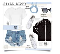 """""""Style Diary 24"""" by hetleven ❤ liked on Polyvore featuring adidas, Topshop, Boohoo and Fendi"""