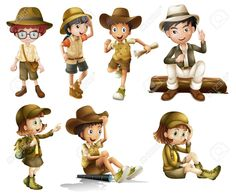 Cartoon safari kids