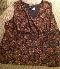 Lane Bryant Paisley Print Spring Sleeveless Top, Plus 26/28 $12.99 eBay