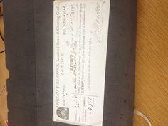 Pitt's Phoenix Fire Office bill from Michaelmas 1797-1798 (my photo)