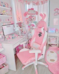 Study Room Decor, Room Ideas Bedroom, Girls Bedroom Furniture, Cute Room Ideas, Cute Room Decor, Pastel Room, Pink Room, Home Music, Kawaii Bedroom
