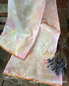 Upcycled Mixed Media Scarf | One-day Project | Rebecca Baer®, Inc. | Your Creative Connection: Upcycled Mixed Media Scarf | One-day Project