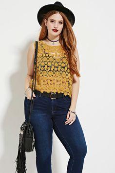 Plus Size Crochet Top | Forever 21 PLUS - 2000168805