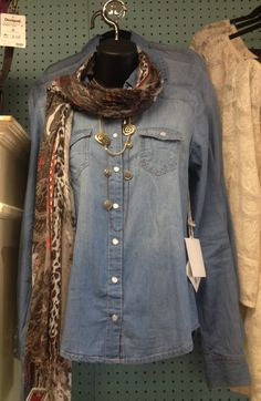 DENIM TOPS ARE THE HOTTEST ITEM THIS SEASON!  ONLY $36!   Hurry in, these won't last long!