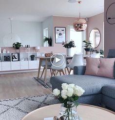 Pink design & Pink living room & Interior design & Pink and white Home Living Room, Apartment Living, Interior Design Living Room, Living Room Designs, Living Area, Living Room Decor Inspiration, Elegant Living Room, Modern Living, Small Living