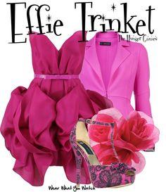 Inspired by Elizabeth Banks as Effie Trinket in The Hunger Games franchise.