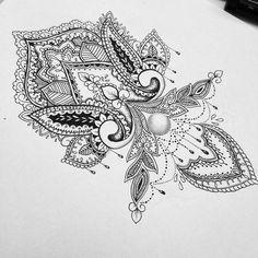 I want this mandala design on my wrist.: