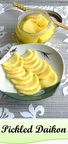 4 Cycle Fat Loss - Crunchy yellow pickled daikon or takuan is an island Japanese favorite. Get more local style recipes here. - Discover the World's First & Only Carb Cycling Diet That INSTANTLY Flips ON Your Body's Fat-Burning Switch Japanese Dishes, Japanese Food, Japanese Recipes, Chutneys, Japanese Pickles, Japanese Pickled Daikon Recipe, Sushi, Island Food, Asian Cooking