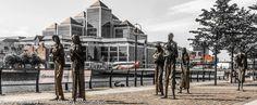 """Famine"" by Rowan Gillespie - Custom House Quay, Dublin #Sculpture #Famine #Memorial"