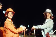 Jim Carrey & Jeff Daniels behind the scenes on #DumbAndDumber (1994).