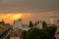 #Sunset during a #storm in Saint-Maur-des-Fossés, France. © Julien Blavette